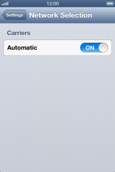 Apple iPhone 4S - Network - Manual network selection - Step 4
