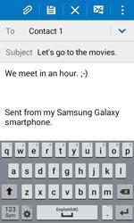 Samsung G388F Galaxy Xcover 3 - E-mail - Sending emails - Step 10