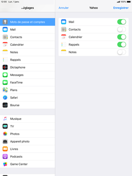 Apple iPad Mini 3 - iOS 12 - E-mail - Configuration manuelle (yahoo) - Étape 8