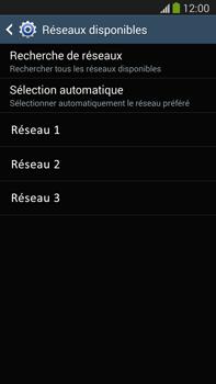 Samsung Galaxy Note III LTE - Réseau - Sélection manuelle du réseau - Étape 8