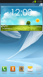 Samsung Galaxy Note II - Getting started - Installing widgets and applications on your start screen - Step 7