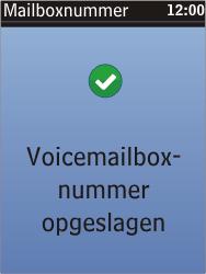 Nokia C2-05 - Voicemail - Handmatig instellen - Stap 8