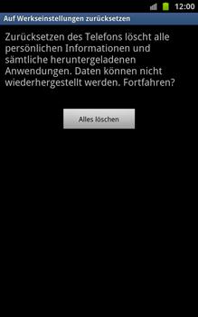 Samsung N7000 Galaxy Note - Fehlerbehebung - Handy zurücksetzen - Schritt 9