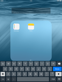 Apple iPad mini - iOS 8 - Getting started - Personalising your Start screen - Step 6
