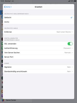 Apple iPad Air 2 - ipados 13 - E-Mail - Manuelle Konfiguration - Schritt 22