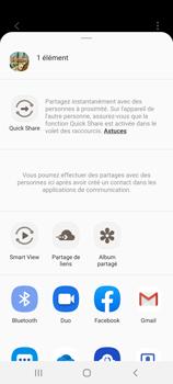 Samsung Galaxy S20 - Photos, vidéos, musique - Créer une vidéo - Étape 17