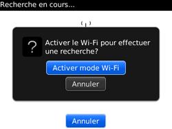 BlackBerry curve 3G - Internet et connexion - Accéder au réseau Wi-Fi - Étape 7