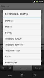 Sony Xpéria SP - Contact, Appels, SMS/MMS - Ajouter un contact - Étape 8