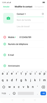 Oppo Reno 2Z - Contact, Appels, SMS/MMS - Ajouter un contact - Étape 9