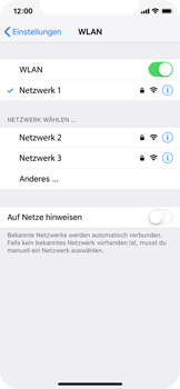 Apple iPhone XS - WLAN - Manuelle Konfiguration - Schritt 7