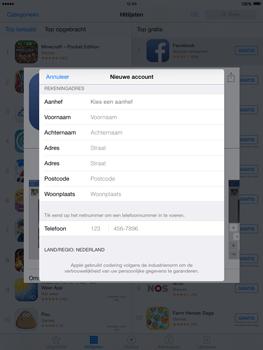 Apple iPad 2 iOS 8 - Applicaties - Account aanmaken - Stap 20