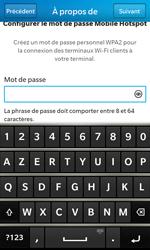 BlackBerry Z10 - Internet et connexion - Partager votre connexion en Wi-Fi - Étape 12