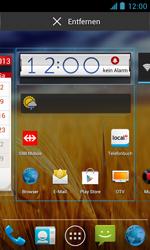 ZTE Blade III - Startanleitung - Installieren von Widgets und Apps auf der Startseite - Schritt 5