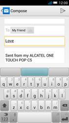 Alcatel OT-5036X Pop C5 - E-mail - Sending emails - Step 8