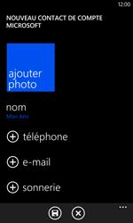 Nokia Lumia 625 - Contact, Appels, SMS/MMS - Ajouter un contact - Étape 7