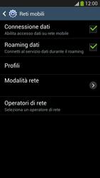 Samsung Galaxy S 4 Active - Internet e roaming dati - Disattivazione del roaming dati - Fase 6