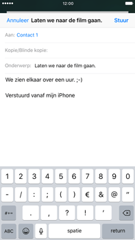 Apple iPhone 6 Plus iOS 10 - E-mail - E-mail versturen - Stap 8