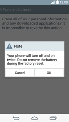 LG G3 - Mobile phone - Resetting to factory settings - Step 9