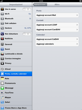 Apple iPad Retina - E-mail - Configurazione manuale - Fase 6