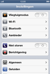 Apple iPhone 4 (iOS 6) - bluetooth - aanzetten - stap 3