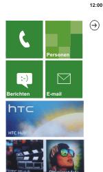 HTC C110e Radar - Internet - aan- of uitzetten - Stap 1