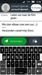 Doro 8031 - E-mail - E-mail versturen - Stap 13