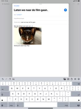 Apple ipad-pro-12-9-inch-model-a1671-ipados-13 - E-mail - Bericht met attachment versturen - Stap 15
