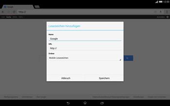Sony Xperia Tablet Z2 LTE - Internet und Datenroaming - Verwenden des Internets - Schritt 8