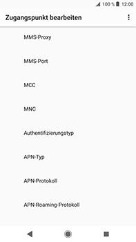 Sony Xperia XZ2 Premium - Internet - Manuelle Konfiguration - Schritt 13