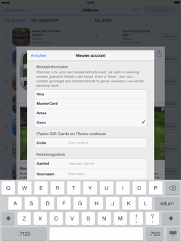 Apple iPad 4th generation (Retina) met iOS 7 - Applicaties - Account aanmaken - Stap 18