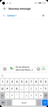 Huawei P40 Lite 5G - Contact, Appels, SMS/MMS - Envoyer un SMS - Étape 10