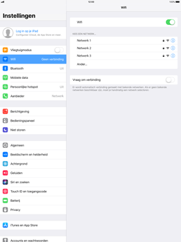 Apple iPad Pro 12.9 (1st gen) - iOS 11 - WiFi - Handmatig instellen - Stap 5