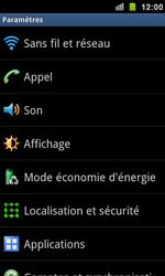 Samsung I9100 Galaxy S II - Wifi - configuration manuelle - Étape 3
