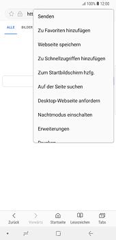 Samsung Galaxy Note 8 - Internet und Datenroaming - Verwenden des Internets - Schritt 8