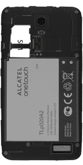 Alcatel Pop S3 - SIM-Karte - Einlegen - 1 / 1