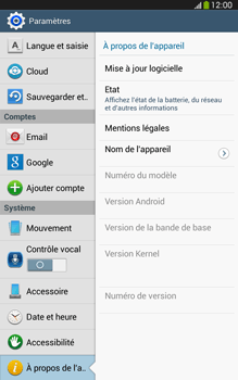 Samsung Galaxy Tab 3 8-0 LTE - Logiciels - Installation de mises à jour - Étape 6