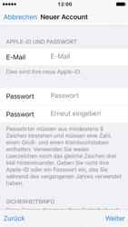 Apple iPhone SE - iOS 10 - Apps - Konto anlegen und einrichten - Schritt 12