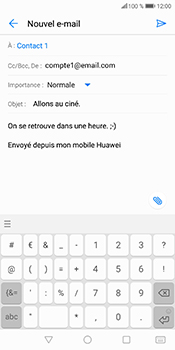 Huawei P Smart - E-mails - Envoyer un e-mail - Étape 10