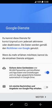 Samsung Galaxy S8 - Apps - Konto anlegen und einrichten - 17 / 19