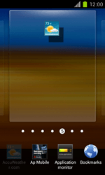 Samsung Galaxy S II - Getting started - Installing widgets and applications on your start screen - Step 5