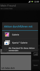Sony Ericsson Xperia Ray mit OS 4 ICS - MMS - Erstellen und senden - 1 / 1