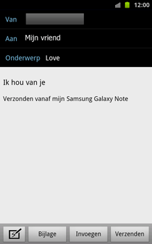 Samsung N7000 Galaxy Note - E-mail - e-mail versturen - Stap 7