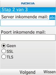 Nokia X2-00 - e-mail - handmatig instellen - stap 9