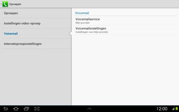 Samsung P5100 Galaxy Tab 2 10-1 - Voicemail - Handmatig instellen - Stap 6