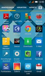 Alcatel One Touch Pop C3 - Startanleitung - installieren von Widgets und Apps auf der Startseite - Schritt 3