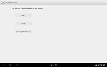 Sony Xperia Tablet Z LTE - E-Mail - Manuelle Konfiguration - Schritt 7