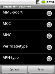 LG P350 Optimus Me - internet - handmatig instellen - stap 10