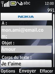 Nokia 6700 classic - E-mail - envoyer un e-mail - Étape 9