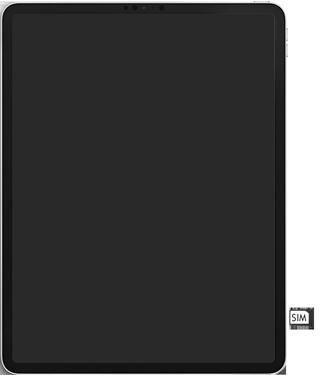 Apple ipad-pro-12-9-inch-2018-Model A1895-ipados-13 - Instellingen aanpassen - SIM-Kaart plaatsen - Stap 4