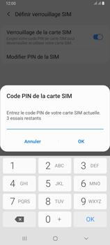 Samsung Galaxy A80 - Sécuriser votre mobile - Personnaliser le code PIN de votre carte SIM - Étape 9
